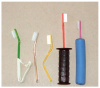 Figure 3: Toothbrush handle modification<br> Courtesy of Paul Burtner, DMD.