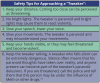 Table 9 – Safety Tips